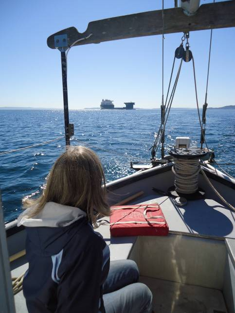 san juans straits ship LilyLily and ship on straits